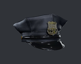 Police Officer Hat Uniform Game Ready 3D asset