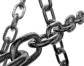 3D asset game-ready Old chain