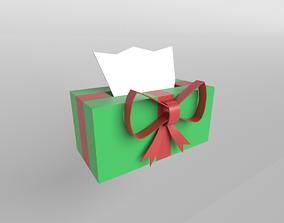 Present Tissue Box v1 001 3D asset