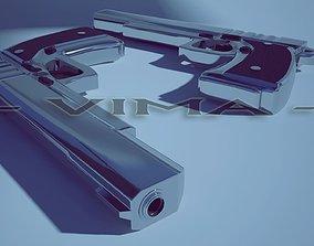 Pistol -luger 9mm 3D asset