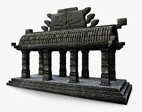 3D model Low Poly Aztec small temple