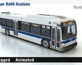 New Flyer Xd40 Xcelsior 3D animated
