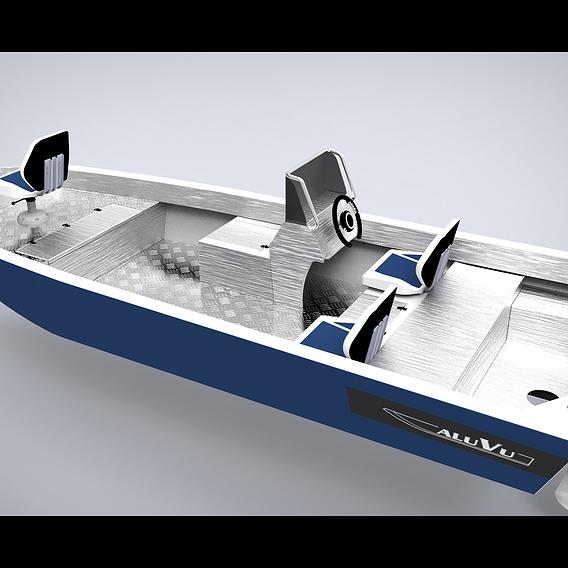 Aluminium boat 5.5 meters