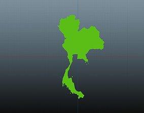 3D Tailand map symbol