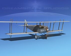 3D model Curtiss JN-2 Jenny Bare Metal