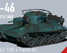 3D printable model T46 WWII tank- Flames of War - 3