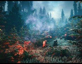 3D model North European Forest Pack