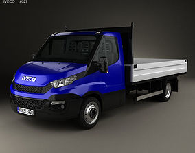 3D model Iveco Daily Dropside 2014