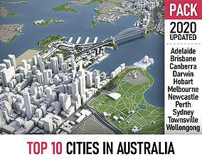 3D model Top 10 Cities in Australia