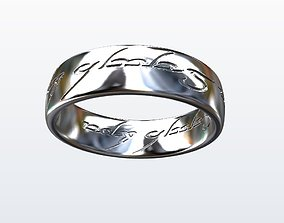 rings Lord of the Ring 3D printable model