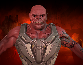 3D model Demon in armor