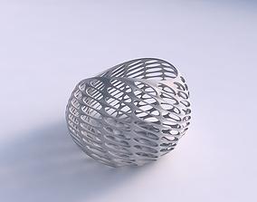 3D printable model Bowl skewed with bubble grid lattice