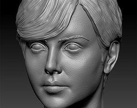 3D print model Charlize Theron