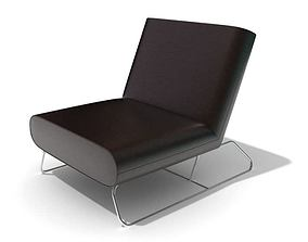 Black modern armchair 90 am45 3D