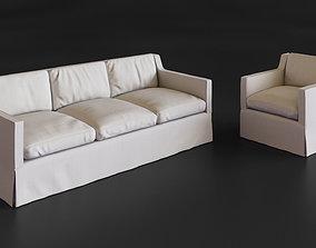 3D asset Eichholtz Cliveden sofa and chair