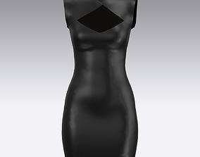 leather DRESS DRESS 3D model