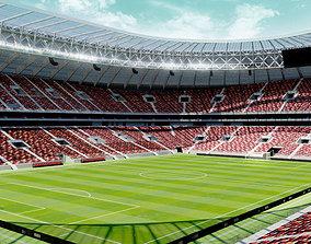 Luzhniki Stadium - Moscow Russia 2018 3D model