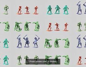 Pirate zombie crew 3D