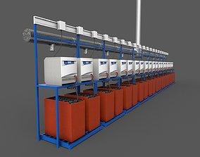 3D model Battery Bay Module Game Ready