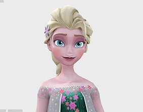 animated Elsa 3d model final version of movie