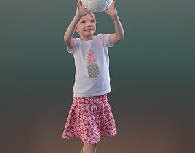 Lilly 10194 - Playing Kid 3D asset