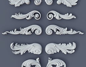 3D printable model Baroque Volutes pack 2