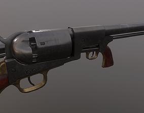 3D asset Colt Dragoon Revolver