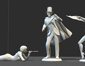 ARSENE LUPIN 5 x Toy soldiers from 3D printable model 3
