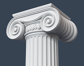 3D Ionic Column 003