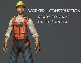 3D asset Worker - Construction - Ready to Game