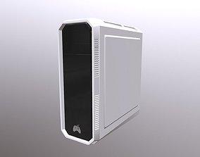 Desktop White - Pc 3D model