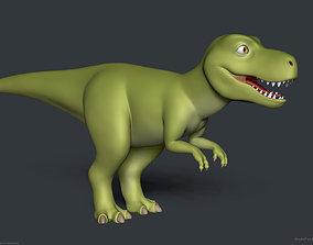 Stylized Cartoon Tyrannosaurus T-Rex Dinosaur 3D