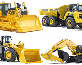 Collection Mining Machines 7 3D model