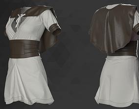 Female Medieval Mini Dress - 53 Marvelous Designer and