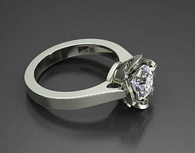 3D printable model flower ring wedding