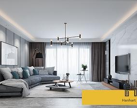 3D model A014-Hanhart-Modern style livingroom Scene