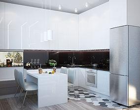 Moderm apartment 60 square meters 3D model
