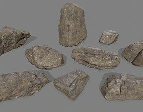 3D model realtime rocks set