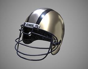 Low poly Football helmet PBR Game-ready 3D model