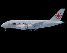 Air Canada 3D Model Airbus A380