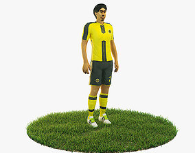 3D model Shinji Kagawa football Player game ready
