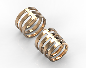 3D print model 111114 R two phalanges simple ring