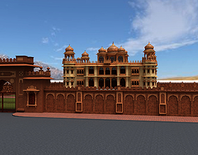 Iconic Mohatta Palace Realistic 3D Model