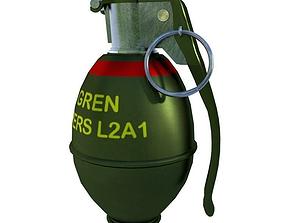 VR / AR ready Hand Grenade 3D Model