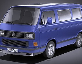 Volkswagen T3 Limited Last Edition 2002 VRAY 3D