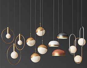 Four Hanging Light Set 07 3D model