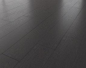Wood Floor Oak Black Brushed flooring 3D model