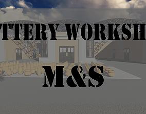 3D model animated Pottery workshop design