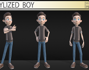 Stylized boy 3D model VR / AR ready