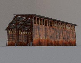3D asset Desert Hangar
